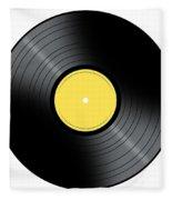 Music Record Fleece Blanket