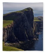 Neist Point Lighthouse Fleece Blanket