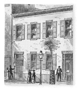 New York: Dispensary, 1868 Fleece Blanket