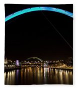 Newcastle Quayside And Sage Gateshead Fleece Blanket