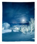 North Carolina Sugar Mountain Ski Resort Winter 2014 Fleece Blanket