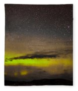Northern Lights And Myriad Of Stars Fleece Blanket
