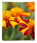 Novelty French Marigold Named Mr. Majestic Fleece Blanket