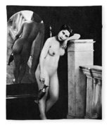Nude Posing, C1850 Fleece Blanket