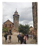 Nurnberg Germany Castle Fleece Blanket