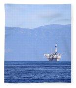 Oil Rig Fleece Blanket