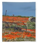 Old Farm Equipment Fleece Blanket