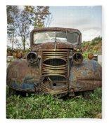 Old Junker Car Fleece Blanket