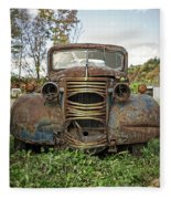 Old Junker Car Fleece Blanket