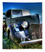 Old Truck At Bodie Fleece Blanket