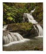 Onomea Falls Fleece Blanket