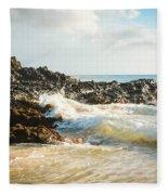 Paako Beach Makena Maui Hawaii Fleece Blanket
