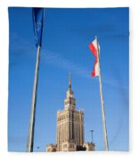 Palace Of Culture And Science In Warsaw Fleece Blanket
