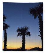 Carolina Palm Sky Fleece Blanket