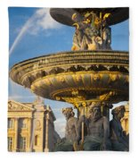 Paris Fountain Fleece Blanket