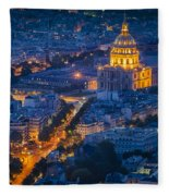 Paris Overhead Fleece Blanket
