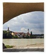 Passau Germany Fleece Blanket