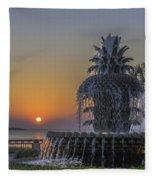 Waterfront Park Glowing Fleece Blanket