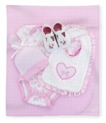 Pink Baby Clothes For Infant Girl Fleece Blanket