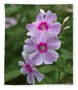 Pink Wood-sorrel  Fleece Blanket