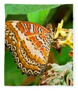 Plain Tiger Butterfly Fleece Blanket