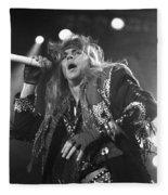 Poison - Brett Michaels Fleece Blanket