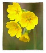 Primula Cowslip Fairy Cups Fleece Blanket