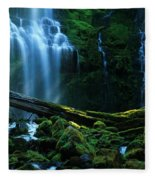 Proxy Falls Oregon Fleece Blanket