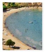 Psili Ammos Beach In Serifos Island Fleece Blanket