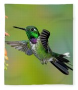 Purple-bibbed Whitetip Hummingbird Fleece Blanket