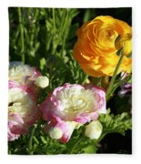 Ranunculus 1 Fleece Blanket