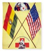 Red Cross Poster, C1917 Fleece Blanket