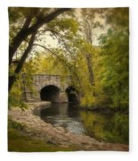 Riverbank Reflections Fleece Blanket