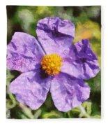 Rockrose Flower Fleece Blanket