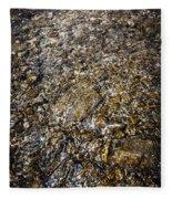 Rocks In Water Fleece Blanket