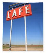 Route 66 Cafe Fleece Blanket