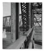 Route 66 - Chain Of Rocks Bridge Fleece Blanket