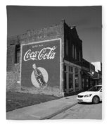 Route 66 - Coca Cola Ghost Mural Fleece Blanket