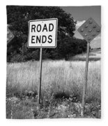 Route 66 - End Of The Road Fleece Blanket