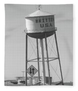 Route 66 - Leaning Water Tower Fleece Blanket