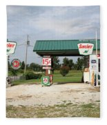 Route 66 - Paris Springs Missouri Fleece Blanket