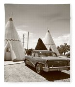 Route 66 Wigwam Motel Fleece Blanket