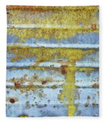 Rusty Metal Fleece Blanket
