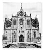 Saint Barbara Church  Fleece Blanket
