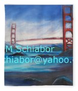 San Francisco Golden Gate Bridge Fleece Blanket