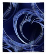 Seamless Background Fractal Fleece Blanket