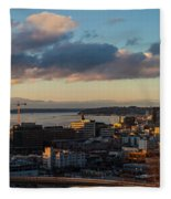Seattle Dusk Fleece Blanket