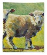 Sheep Painting Fleece Blanket