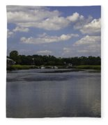 Sweet Balmy Breeze On Shem Creek Fleece Blanket