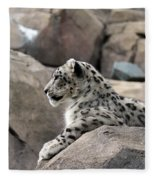 Snow Leopard Fleece Blanket